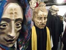 Máscaras teatrais expostas no Centro Cultural da Caixa