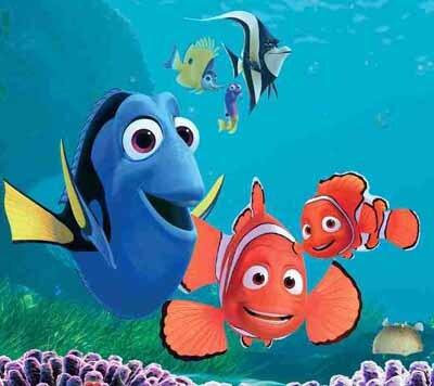 Cena do filme Procurando Nemo