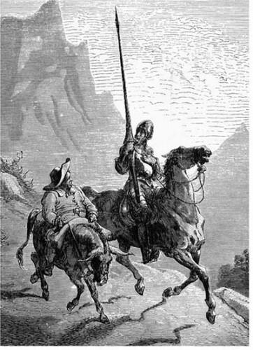 Don Quixote e Sanho Pança