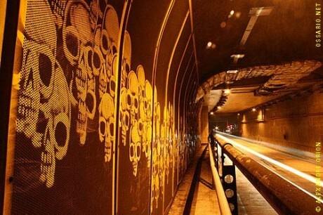 Orion desnaha na fuligem de túnel em São Paulo