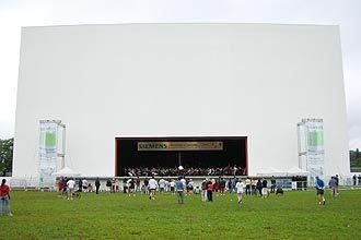 Cinema ao ar livre no Ibirapuera