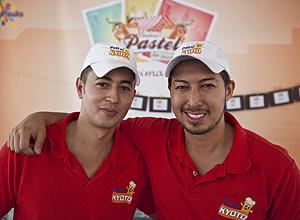 Roberto Matias (à esq.) e Igor Lavezzo, da pastelaria Kyoto