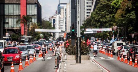 Tem como percorrer toda a extensão da Avenida Paulista com uma bike