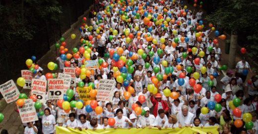 Caminhada coletiva da Avenida Paulista à Assembleia Legislativa marca Dia Mundial da Saúde