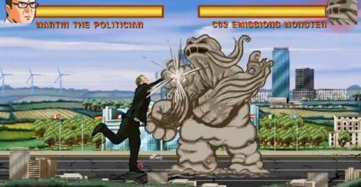Vídeo com luta no estilo Street Fighter pede apoio contra a emissão de CO2
