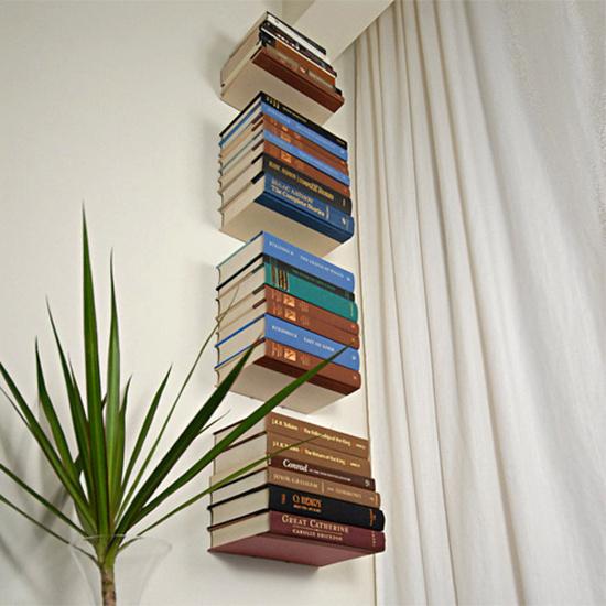 Fa a voc mesmo uma prateleira invis vel e monte uma - Decoracion de librerias ...