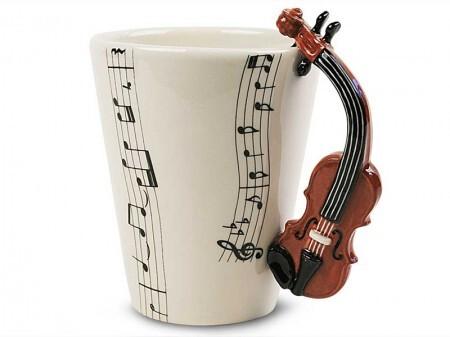 A caneca de violino está entre as 13 opções de instrumentos para a caneca