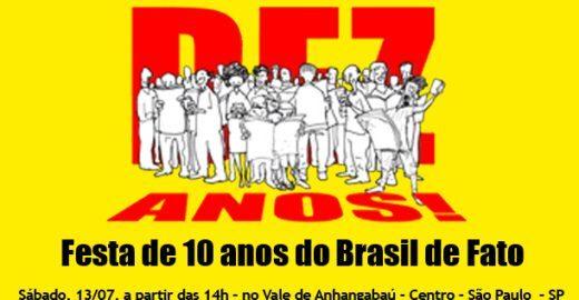 Festa do Brasil de Fato reúne diversos artistas no Anhangabaú