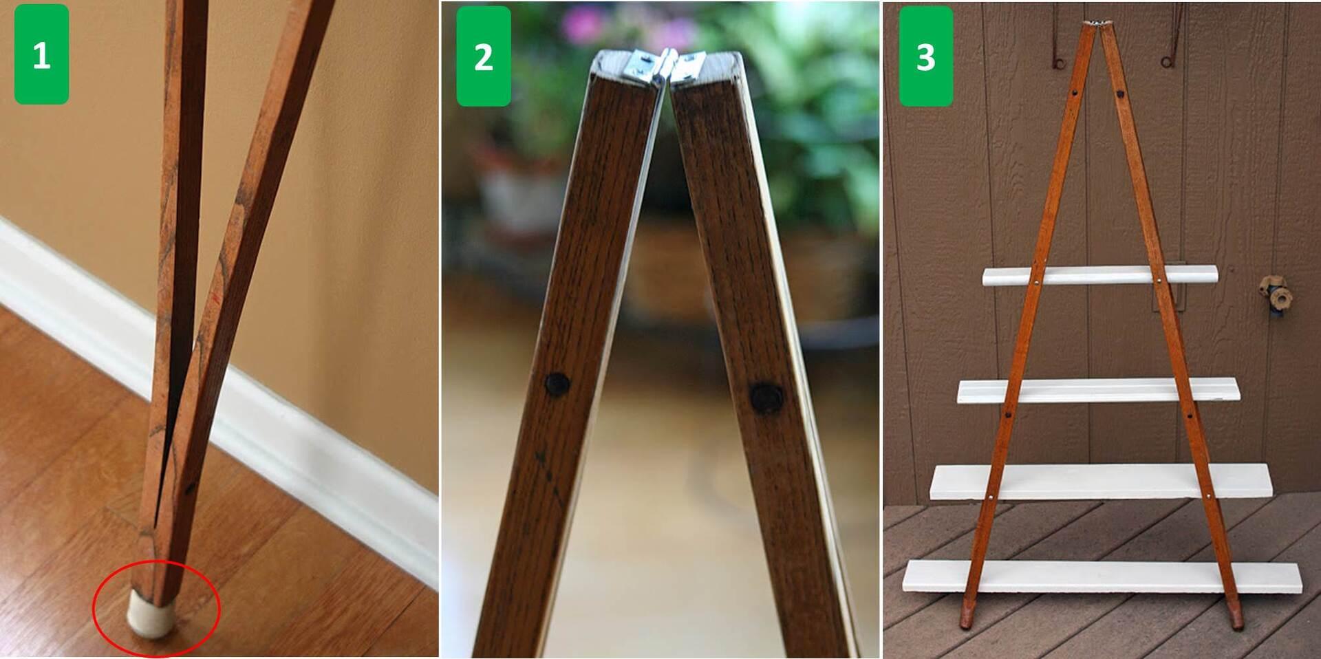 Reutilize muletas de madeira para fazer uma estante vintage Catraca  #00B04E 2011x1003