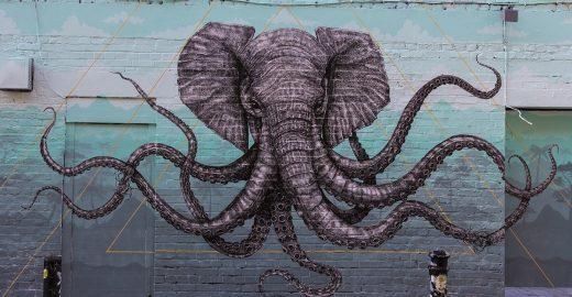 Arte de rua: o elefolvo de Londres