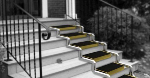 Designer cria escada  que torna-se rampa para cadeirantes