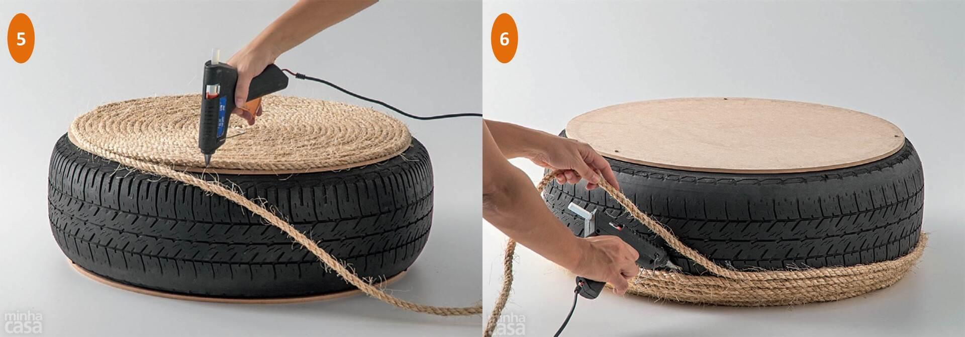 Cultura e Expressão: Faça um pufe ecológico reciclando um pneu  #BC5B0F 2500x873