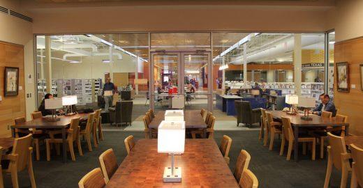 Loja abandonada vira maior biblioteca pública dos EUA