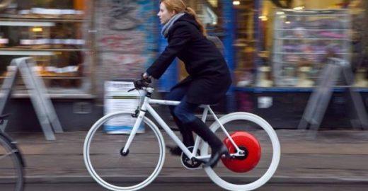 Dispositivo na roda traseira mede esforço do ciclista e o impulsiona quando está cansado