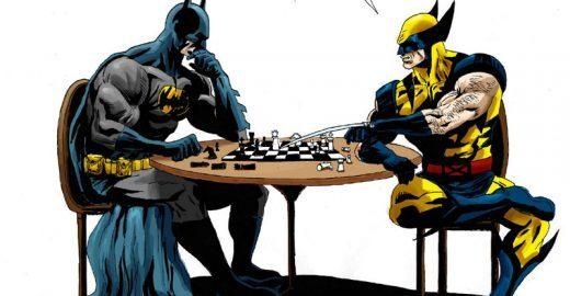 Assista a uma batalha inédita de Batman contra Wolverine
