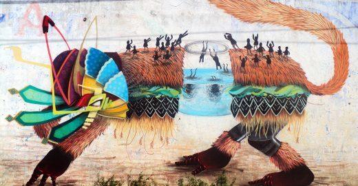 Cores, mitos e referências à cultura mexicana se misturam na arte de Curiot