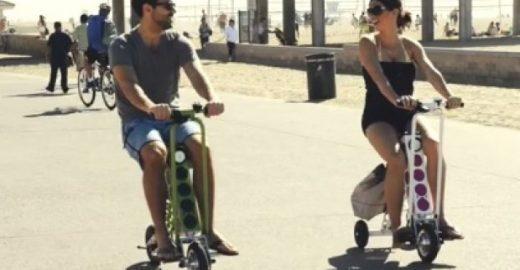 Scooter dobrável e elétrica, que carrega celular vai revolucionar conceitos de mobilidade