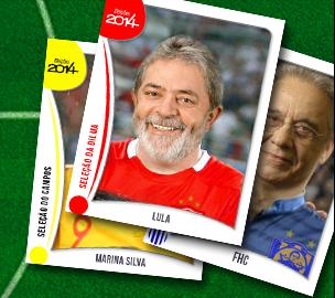 'Álbum das Eleições' ajuda brasileiros a entenderem as escalações e estratégias das campanhas políticas de 2014