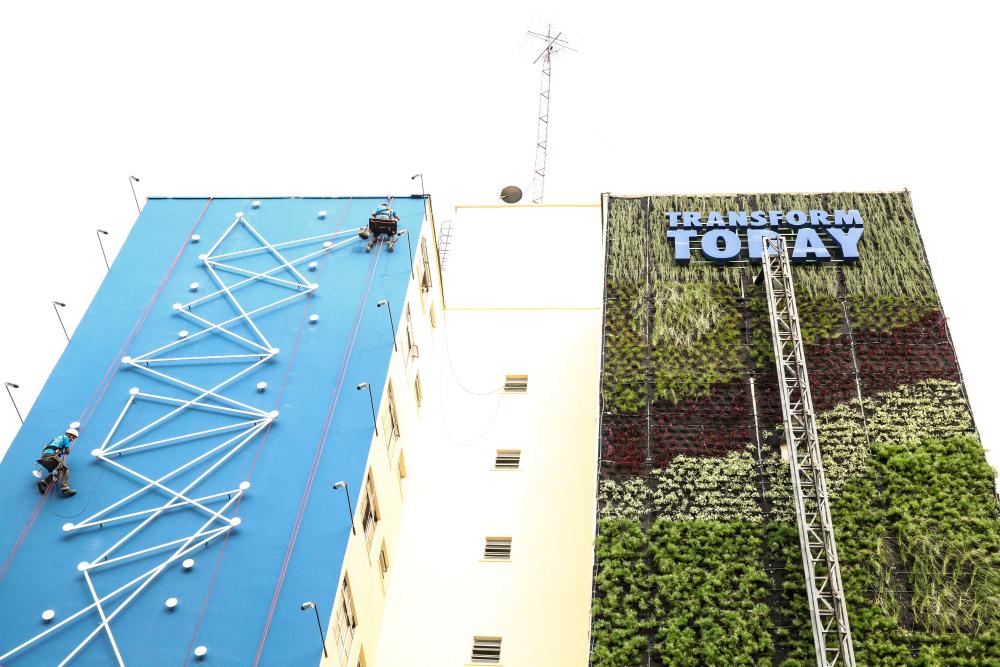 jardim vertical minhocao : jardim vertical minhocao:Jardim vertical muda a cara da região degradada e cinzenta do