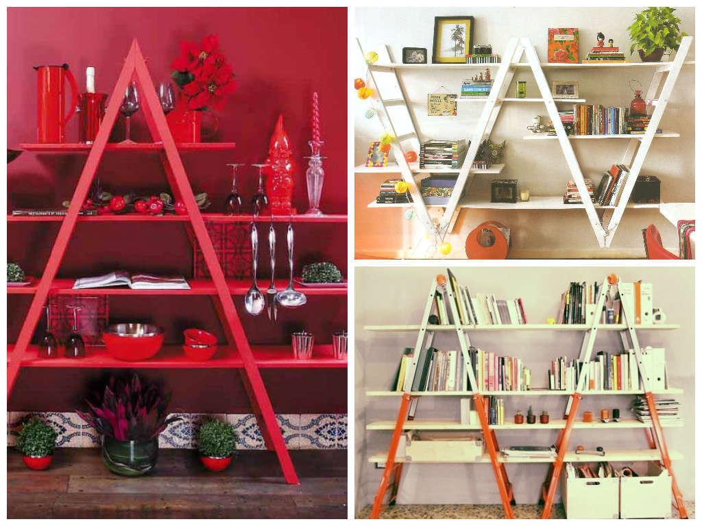 Como fazer uma escada virar estante em 3 passos #AA212F 1024x768