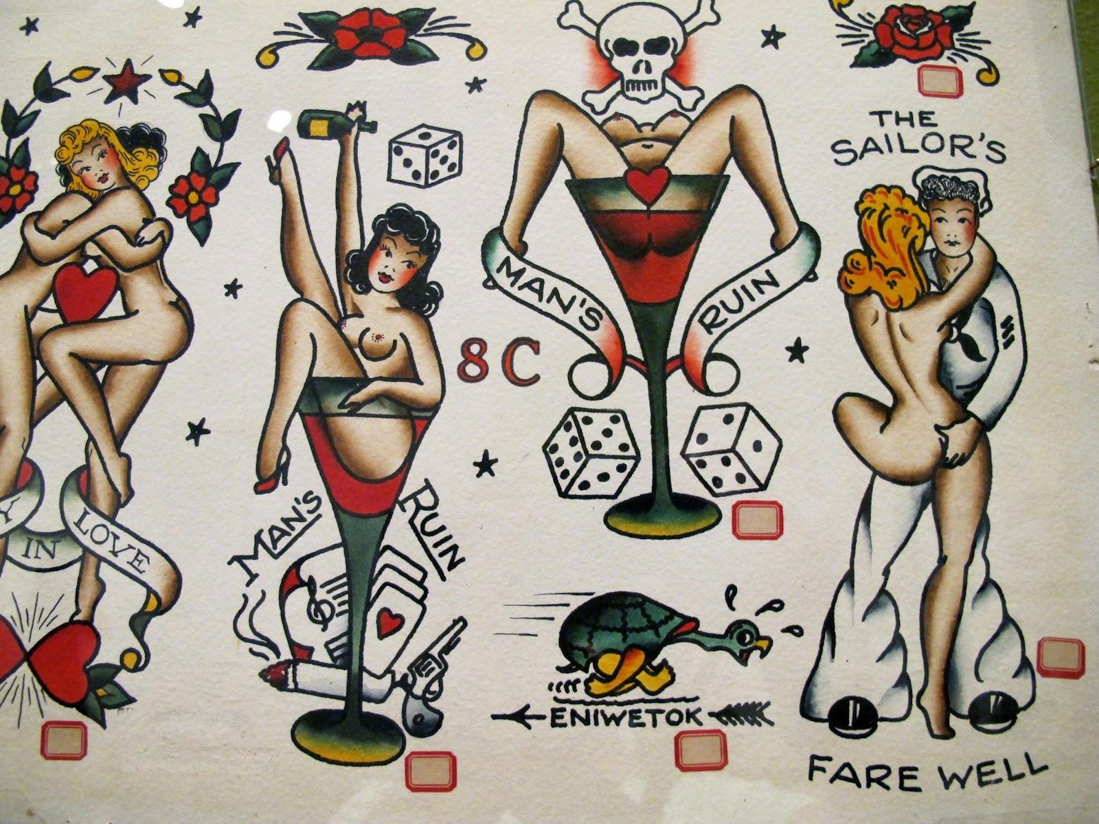 tatouage pin up navy