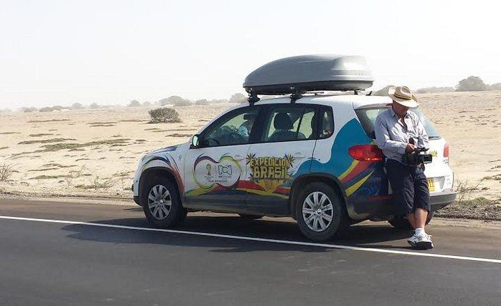 Expedição de carro da Colômbia até o Brasil mostra trajeto para Copa
