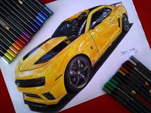 Artista Faz Desenhos Hiper Realistas De Carros Usando