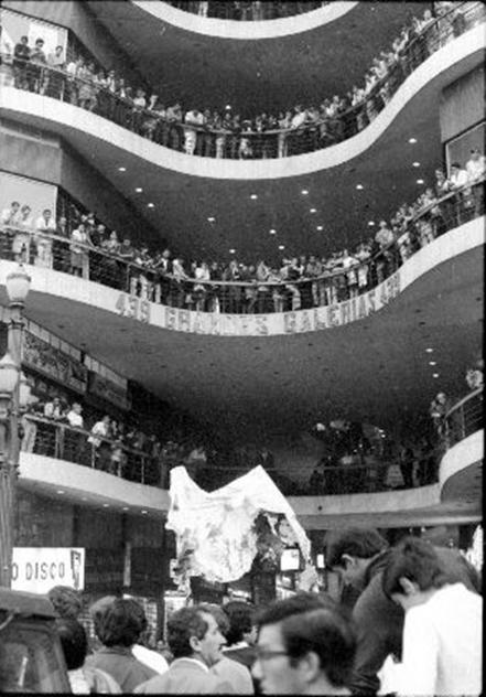 Manifestação de estudantes, anos 60