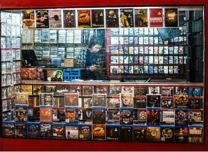 Uma das muitas lojas de cd's