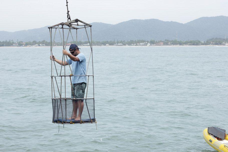 O professor André Dias chegando na Ilha - Foto: Victor Sousa
