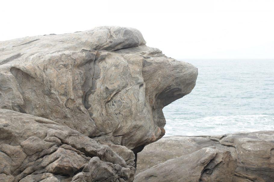 Pedra em formato de leão - Foto: Victor Sousa