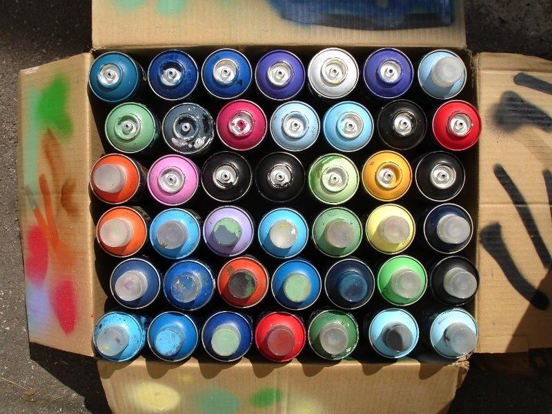 Spray Bottle Paint Mural