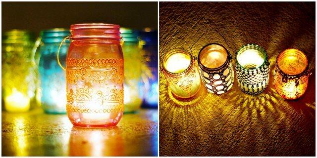 Fa a lanternas marroquinas com potes de vidro - Portavelas grandes ...