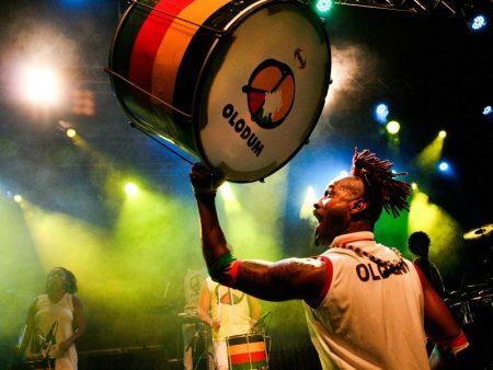O Olodum promete animar a tarde de domingo