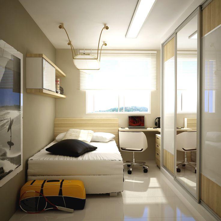 12 ideias aconchegantes e criativas para quartos pequenos ~ Quarto Planejado De Apartamento Pequeno