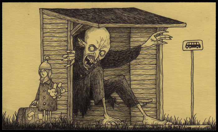 Conheça os desenhos macabros de John Kenn Mortensen