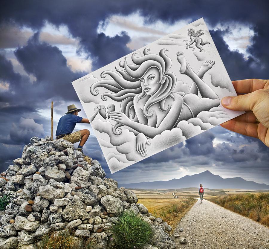 Criativas ilustrações de fotografias por Ben Heine