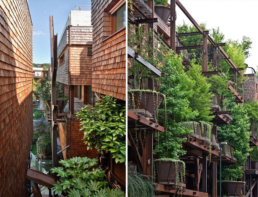 Prédio com 150 árvores do arquiteto Luciano Pia.