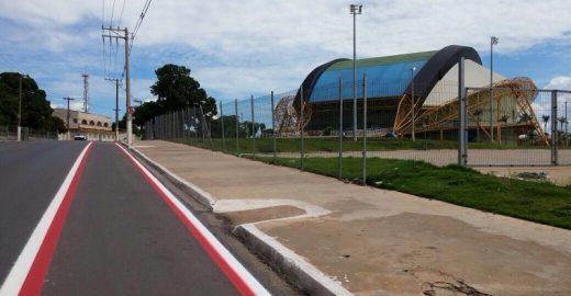 Cuiabá ganha primeira ciclofaixa em seu aniversário de 296 anos