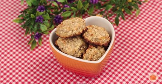 Faça cookies saudáveis com apenas três ingredientes