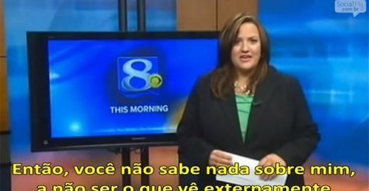 Ao vivo, apresentadora dá resposta sensacional a um e-mail que recebeu onde a chamaram de gorda