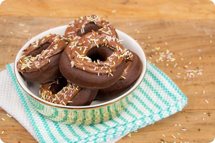 Receita de Donuts de chocolate com Nutella