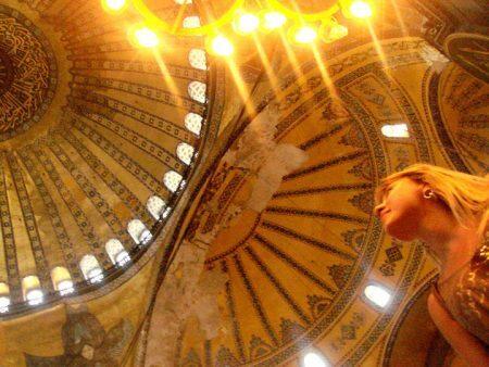 Teto da Basílica de Santa Sofia, Istambul