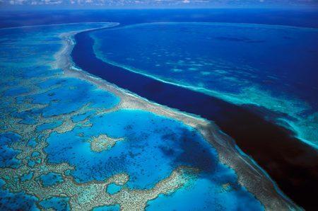 Vista aérea da Grande Barreira de Corais | foto: content.time.com