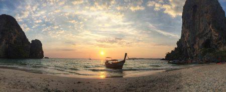 Por do sol em Phranang Beach, Krabi