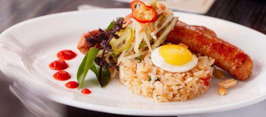 Thai Sausage (uma das salsichas artesanais do restaurante)