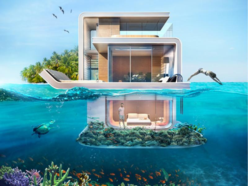 Top Dubai terá uma vila com casas flutuantes; veja fotos DH38