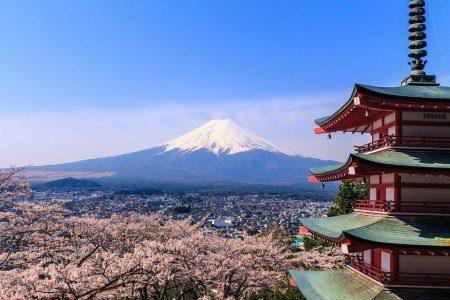 Construção japonesa e Monte Fuji