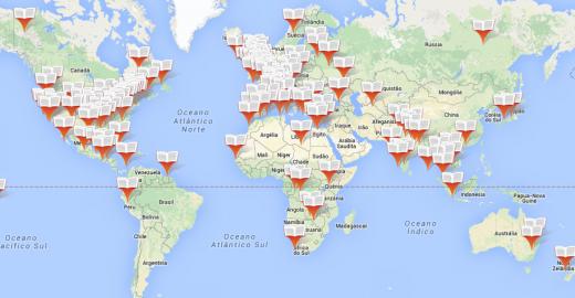 Google Maps dos livros mostra onde cada história se passa