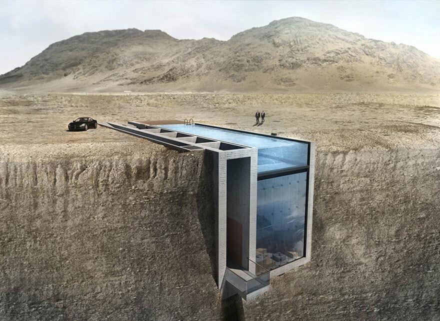 Arquitetos gregos projetam casa 'escondida' em penhasco